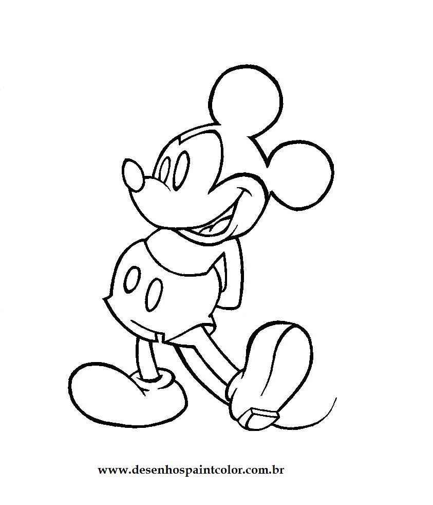 Desenhos do mickey fofinho para colorir de meninas for Papel de pared para pintar