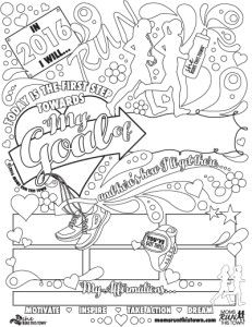 Adult Coloring Page for Runners