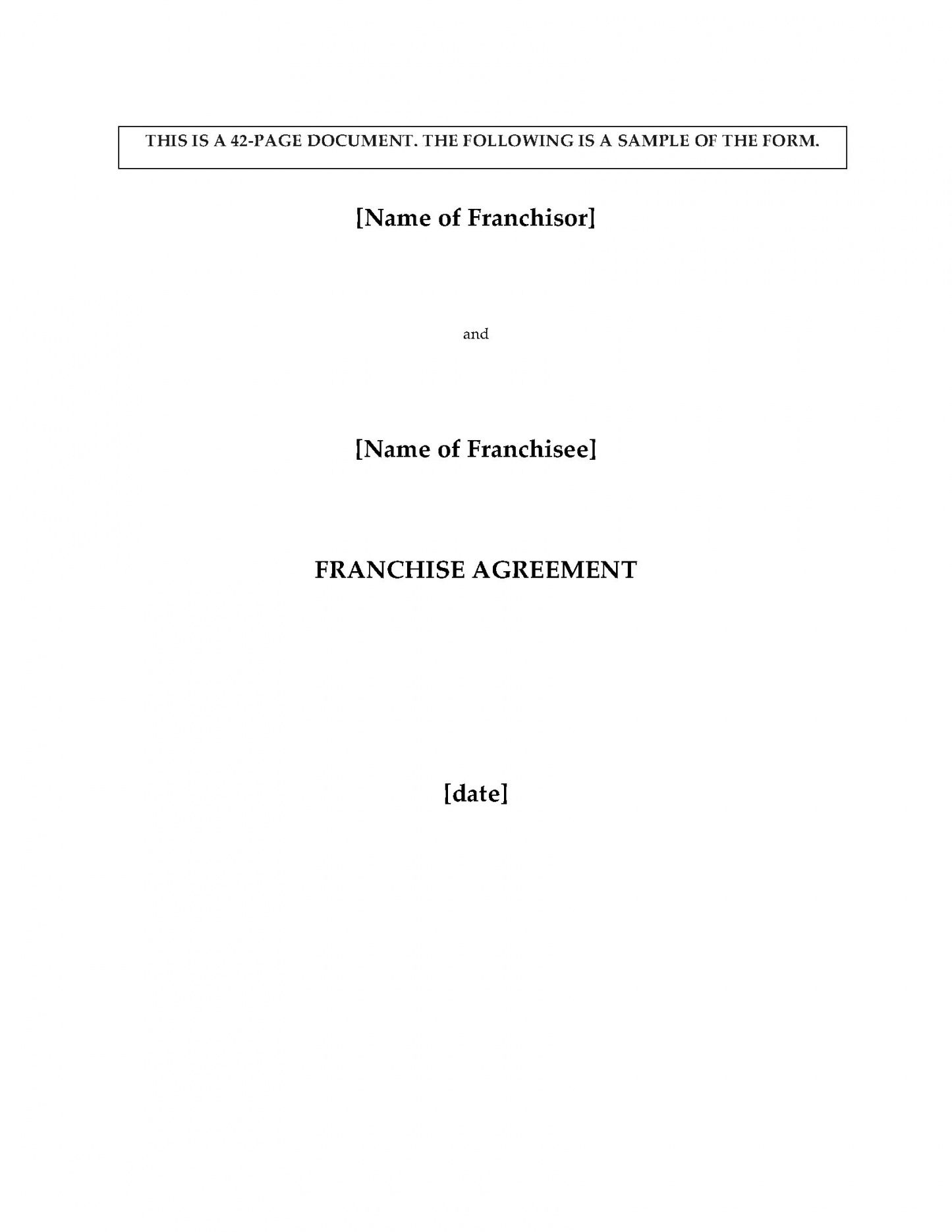 this is the canada franchise agreement for pizza