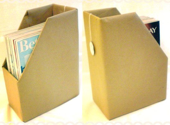 Cardboard Magazine File Holders DYI Magazine file holder diagram from diaper boxes DIY 24