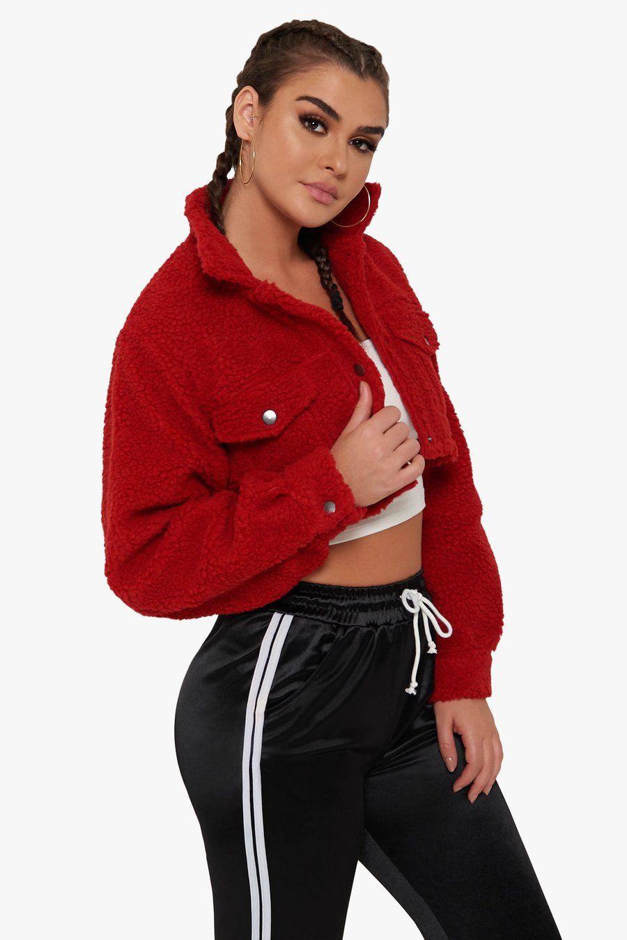 7fdd28f2f3e Delilah Sherpa Jacket