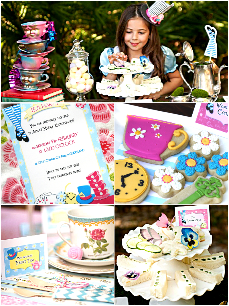 Alice in wonderland mad hatter tea party ideas printables