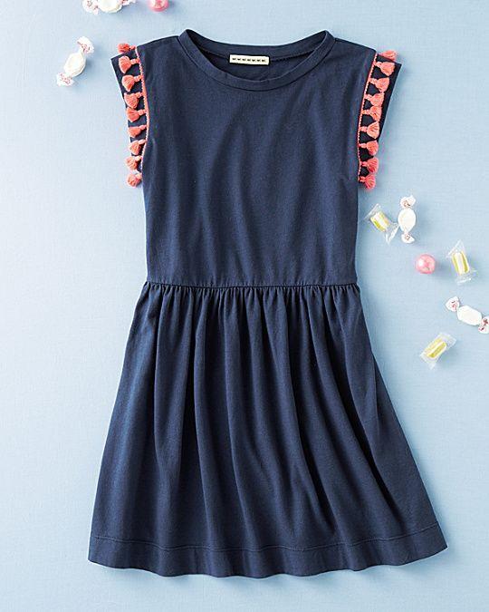 Pom-Pom Trim Knit Dress by Anthem of the Ants - Girls