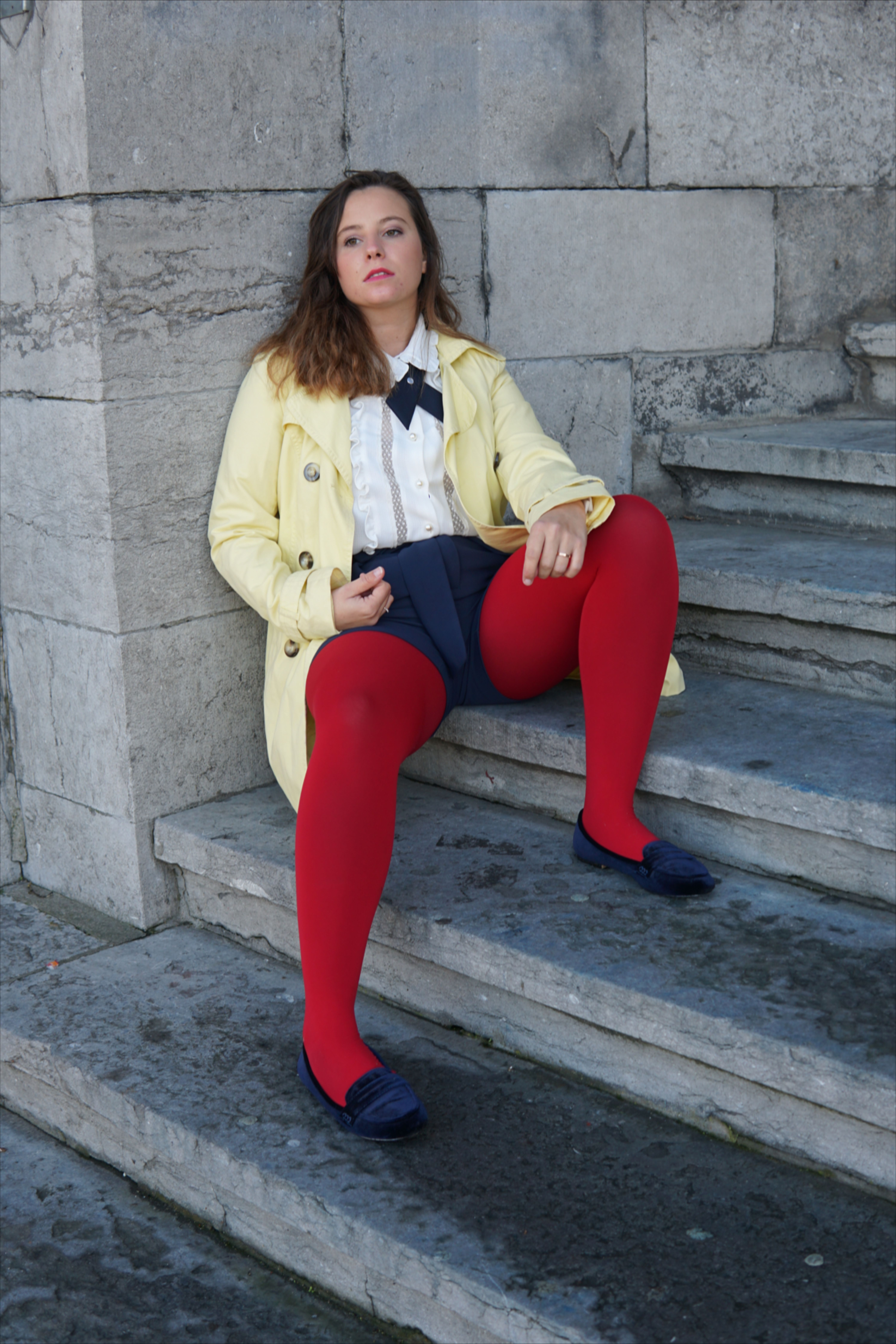 Blair Waldorf : Red tights