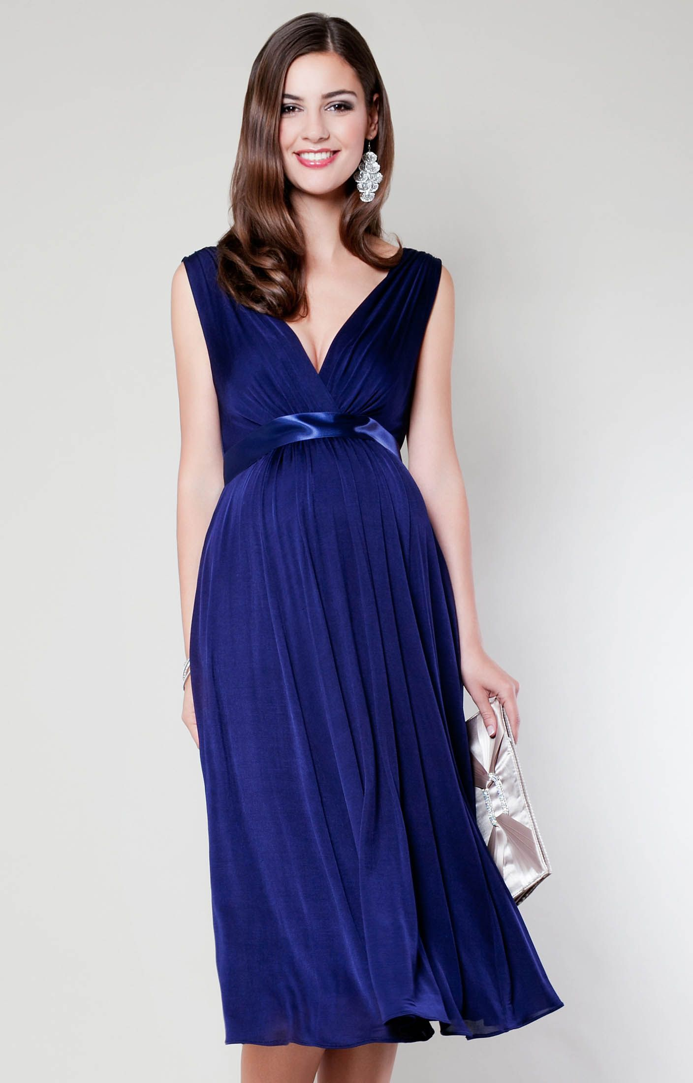 f137e24cb52 Sashay into the party in style in our Anastasia short maternity gown in  deeply intense Eclipse Blue.