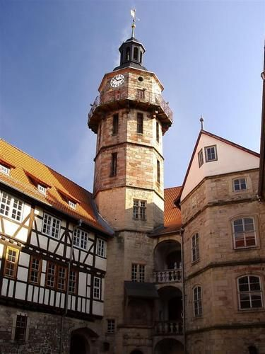 Schloss Bertholdsburg De Architektur Der Renaissance Burg Thuringen