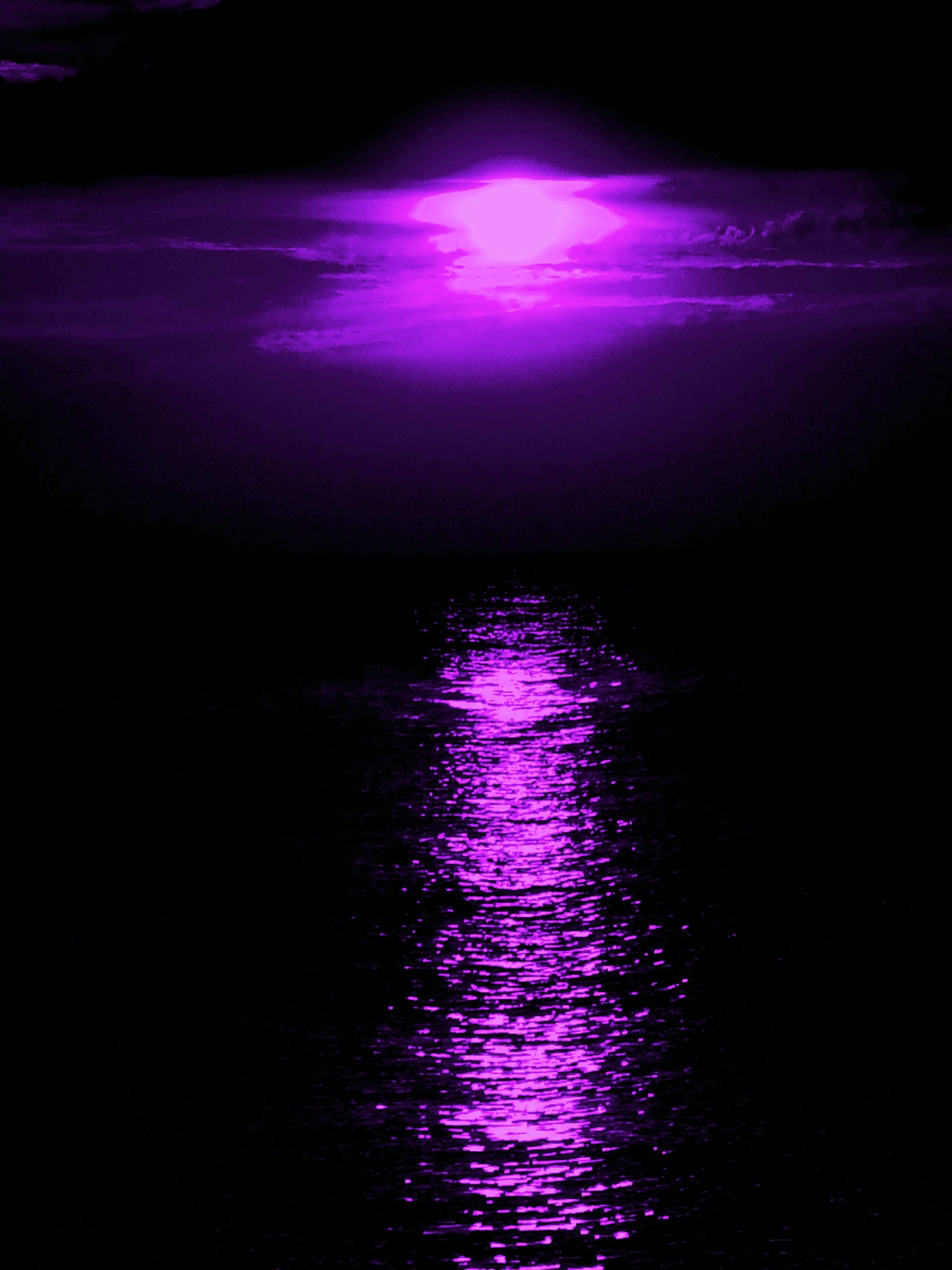 Sunset Purple Sky Purple Love Purple Color