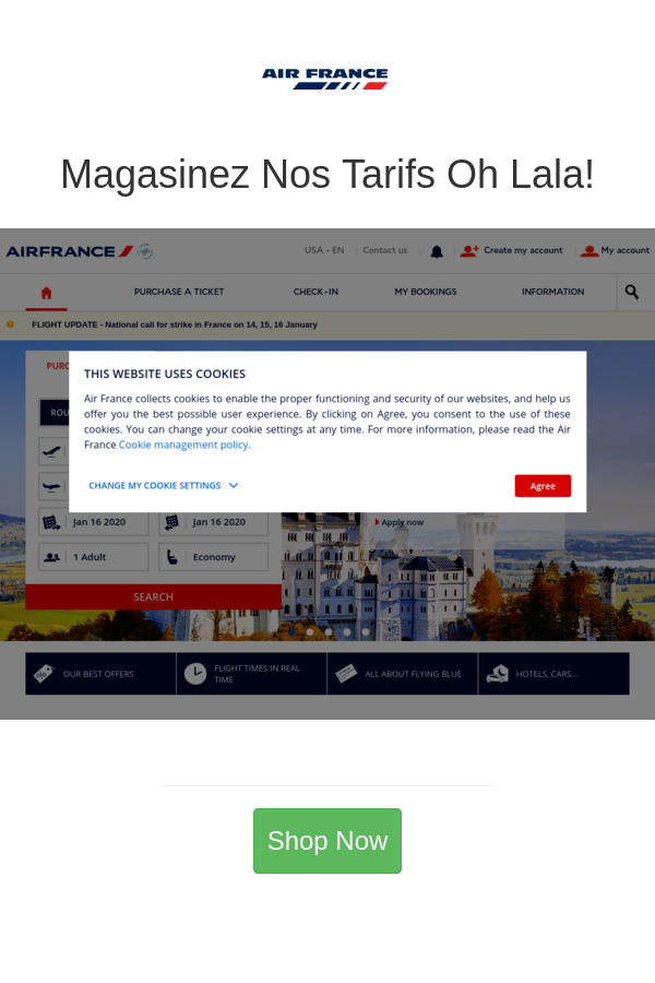 Magasinez Nos Tarifs Oh Lala! in 2020 Air france