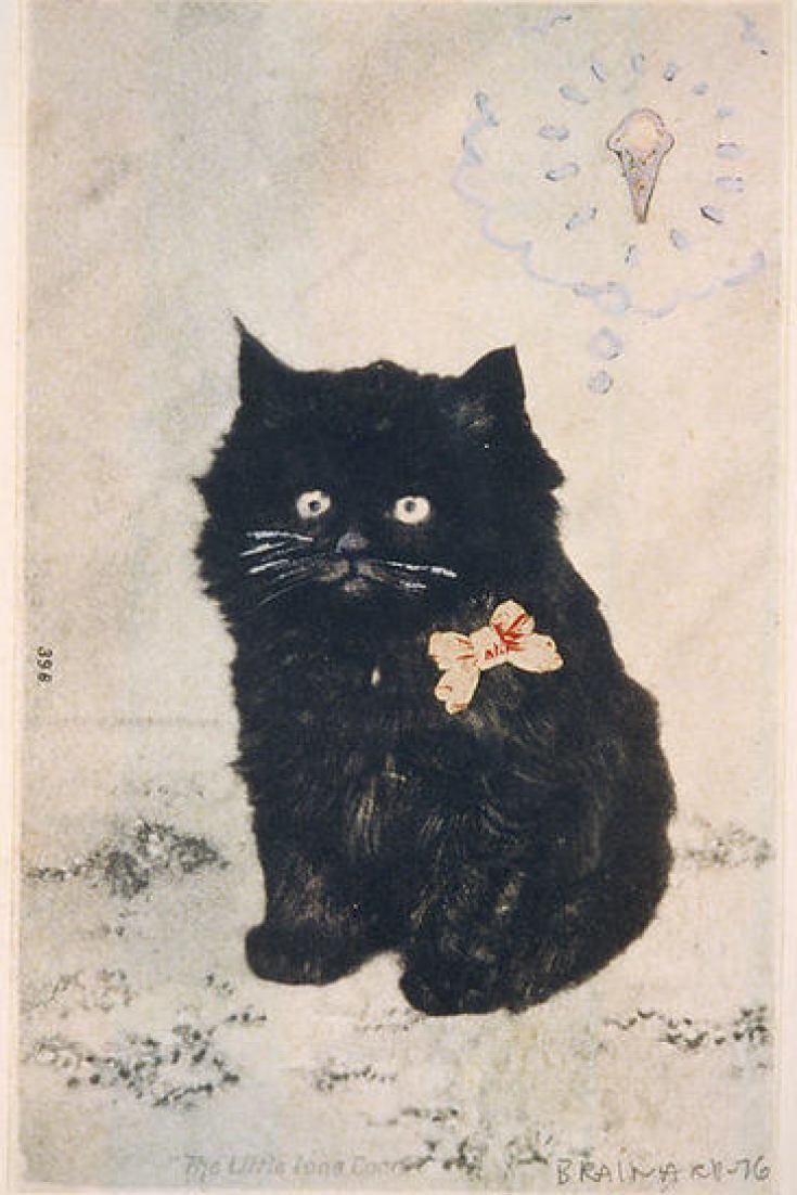 Behold Some Of The Greatest Cat Art Ever In Honor Of National Cat Day Cats Illustration Black Cat Art Cat Illustration