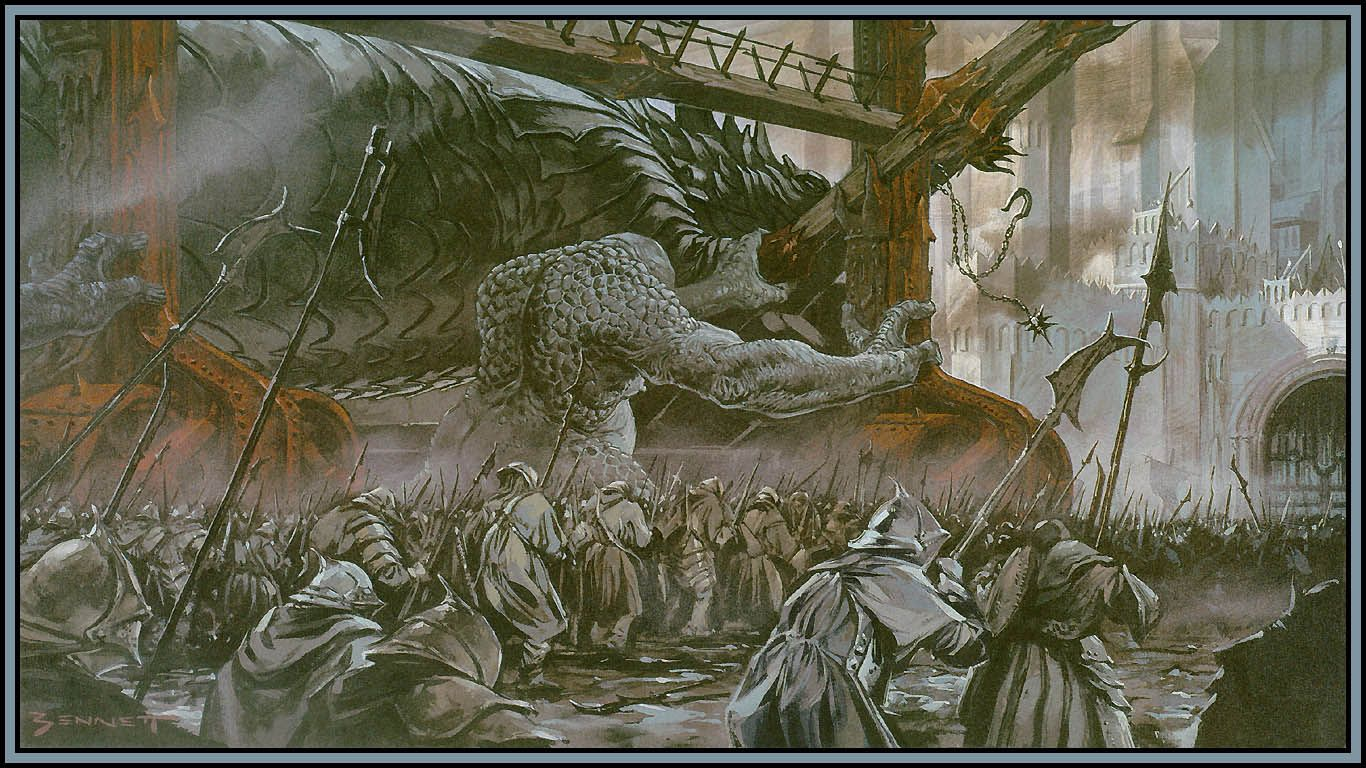 The Art of the Lord of the Rings Trilogy - The Siege of Gondor, Grond attacking the gate