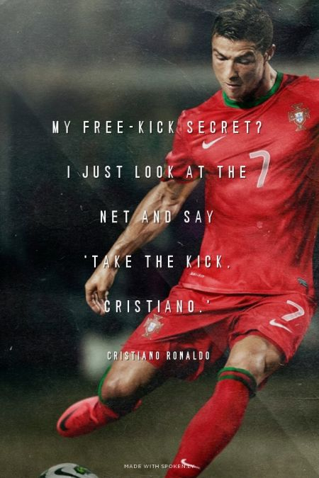 Cristiano Ronaldo 43 Photo Real Madrid Portugal Football Quote Sports Poster