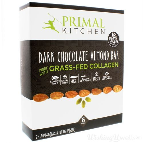 Primal Kitchen Dark Chocolate Almond Bars 6 Pack Dark Chocolate Almonds Almond Bars Dark Chocolate