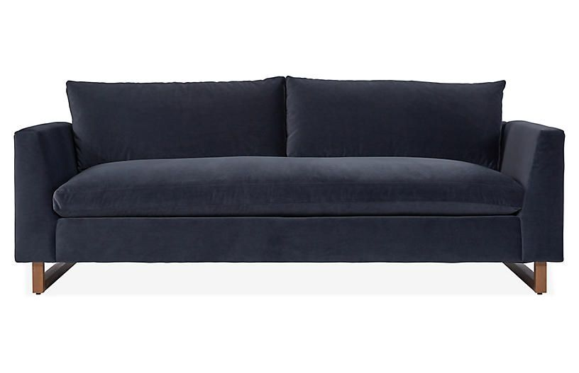 Dolby Bench Seat Sofa Shadow Gray Velvet In 2020 Grey Bench