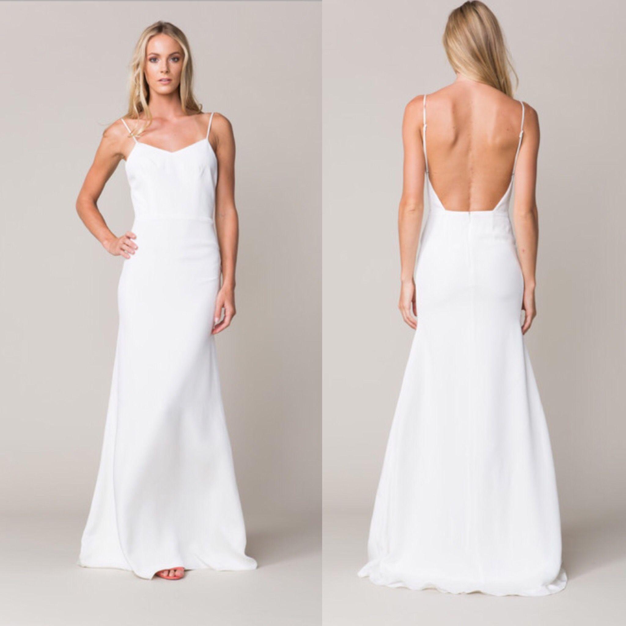 9eaccf865f7 SOLD Sarah Seven sample dress.  1