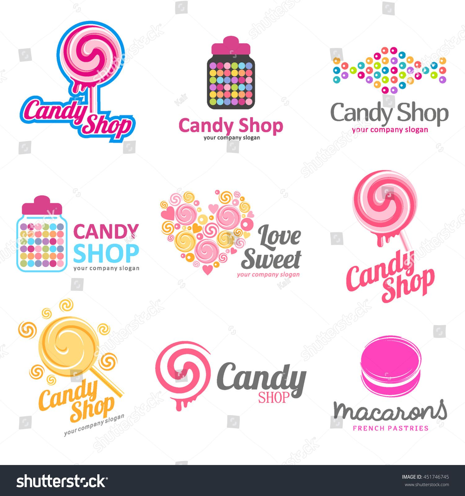 Libre Boutique Vector Set Of Logos For Sweets Candy Shop Boutique Store