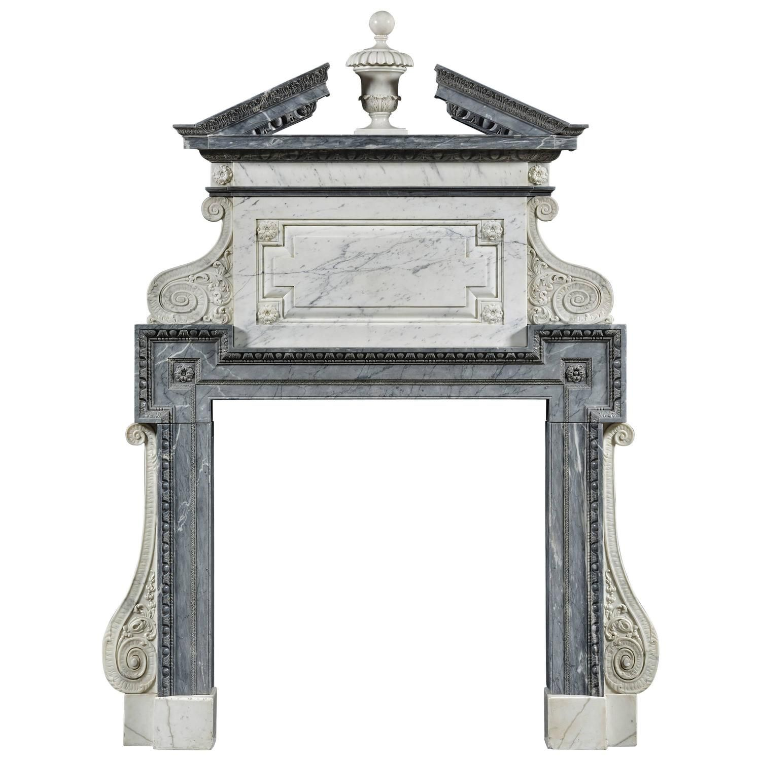 Exceptional English Fireplace With Overmantle Fireplace Mantels Fireplace Georgian Fireplaces