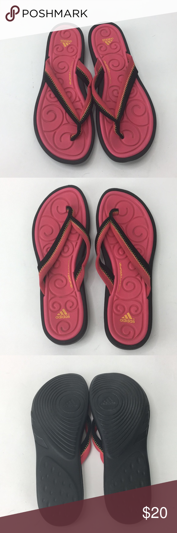 2c3971bac757 Adidas Ultra Foam Thong Flip Flops Quick Dry Sport Pre-owned gently used  condition. Quick dry sport bed. Please see all pictures. adidas Shoes