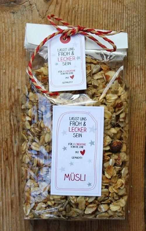 Weihnachtliches Knuspermüsli   Geschenke aus der Küche   Pinterest ...