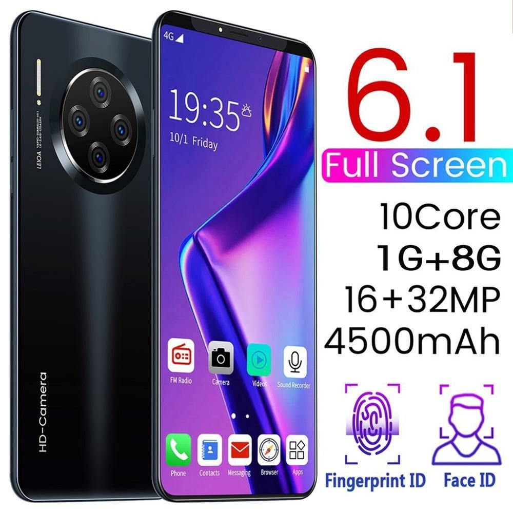 6.1 Inch Smartphone for Mate33 Pro Big Screen Android 9.1