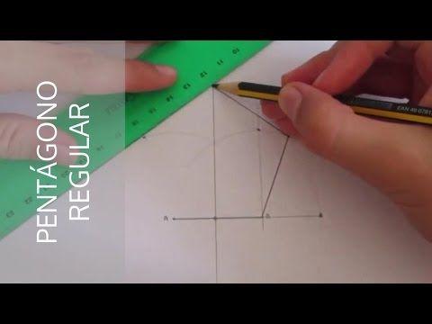 Cómo Hacer Un Pentágono Regular A Partir De Un Segmento A B Youtube Como Hacer Un Pentagono Pentagono Geometria Pentagono