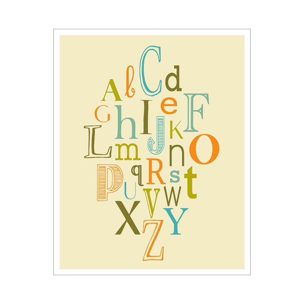 Children\'s Wall Art / Nursery Decor ABCs 11x14 inch poster print by ...