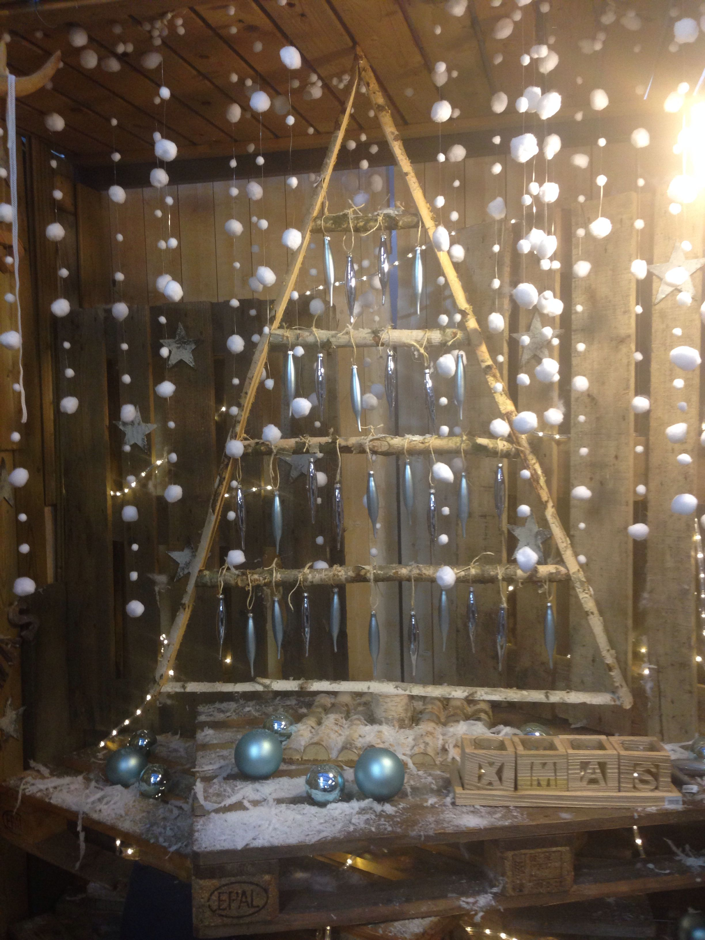 Beautiful wooden Christmas tree