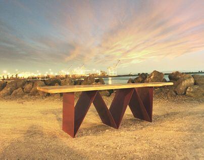 flection: a coffee table by Johnny Lemoine