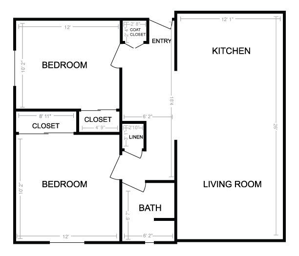 tiny house floors plans for two bedroom - Google Search | Tiny ...