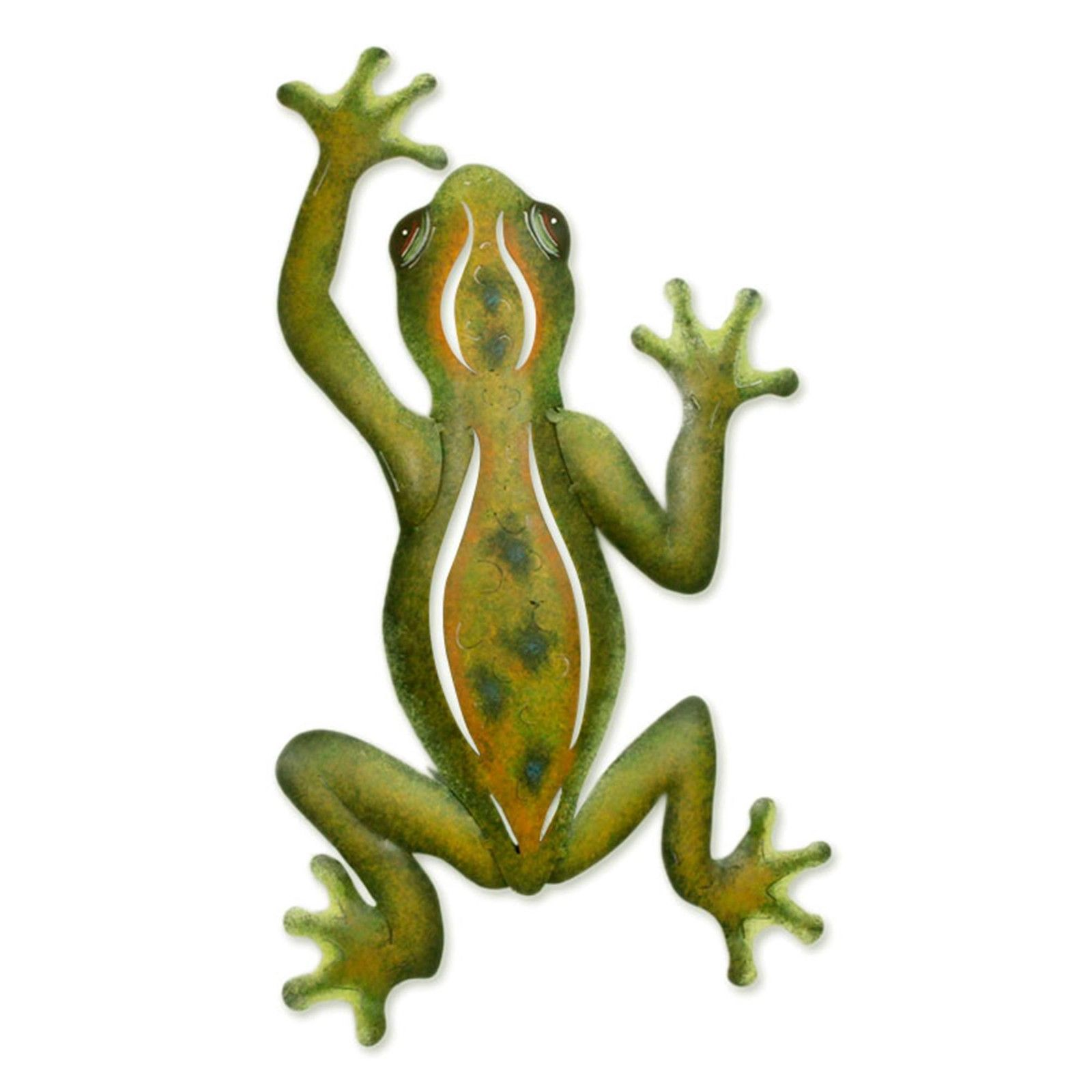 Steel Wall Sculpture Metal Art Handmade \'Mexican Tree Frog\' NOVICA ...
