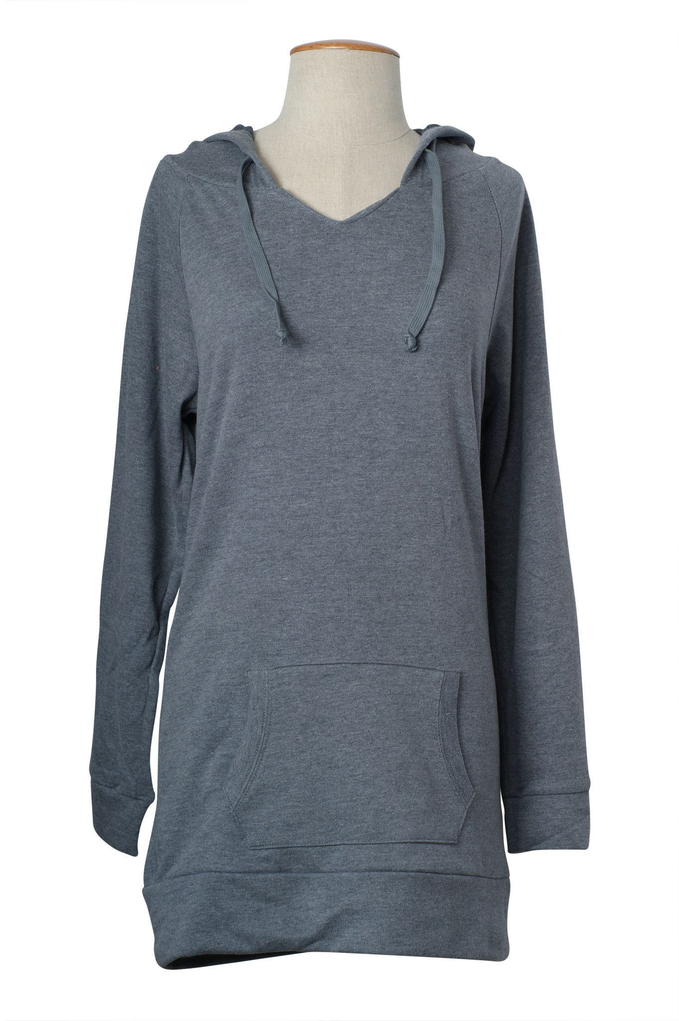 Comfy Solid Pullover Hooded Long Tunic Sweater Top | Tunic sweater ...