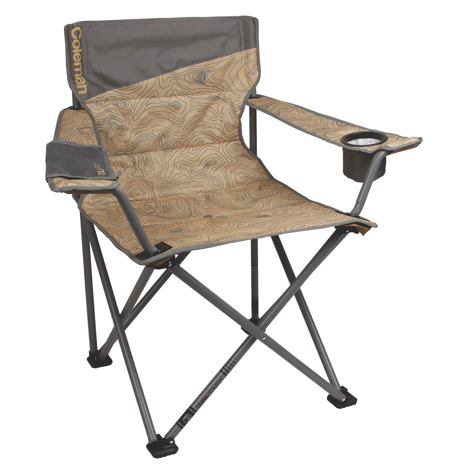 Coleman Big and Tall Quad Camp Chair, Topo Print 24