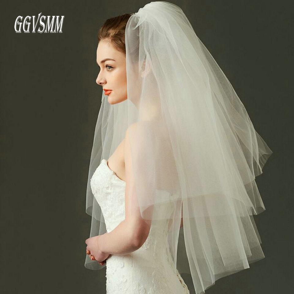 Tulle Wedding Dress Veils Fluffy Mesh White Multi Layer Bridal Hair Veil Comb