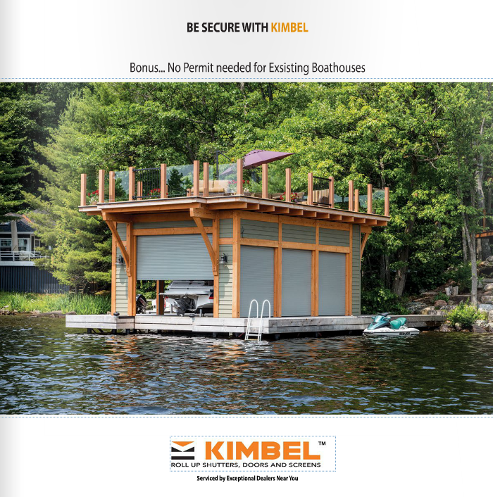 Kimbel installation of shutters on a boat dock is featured
