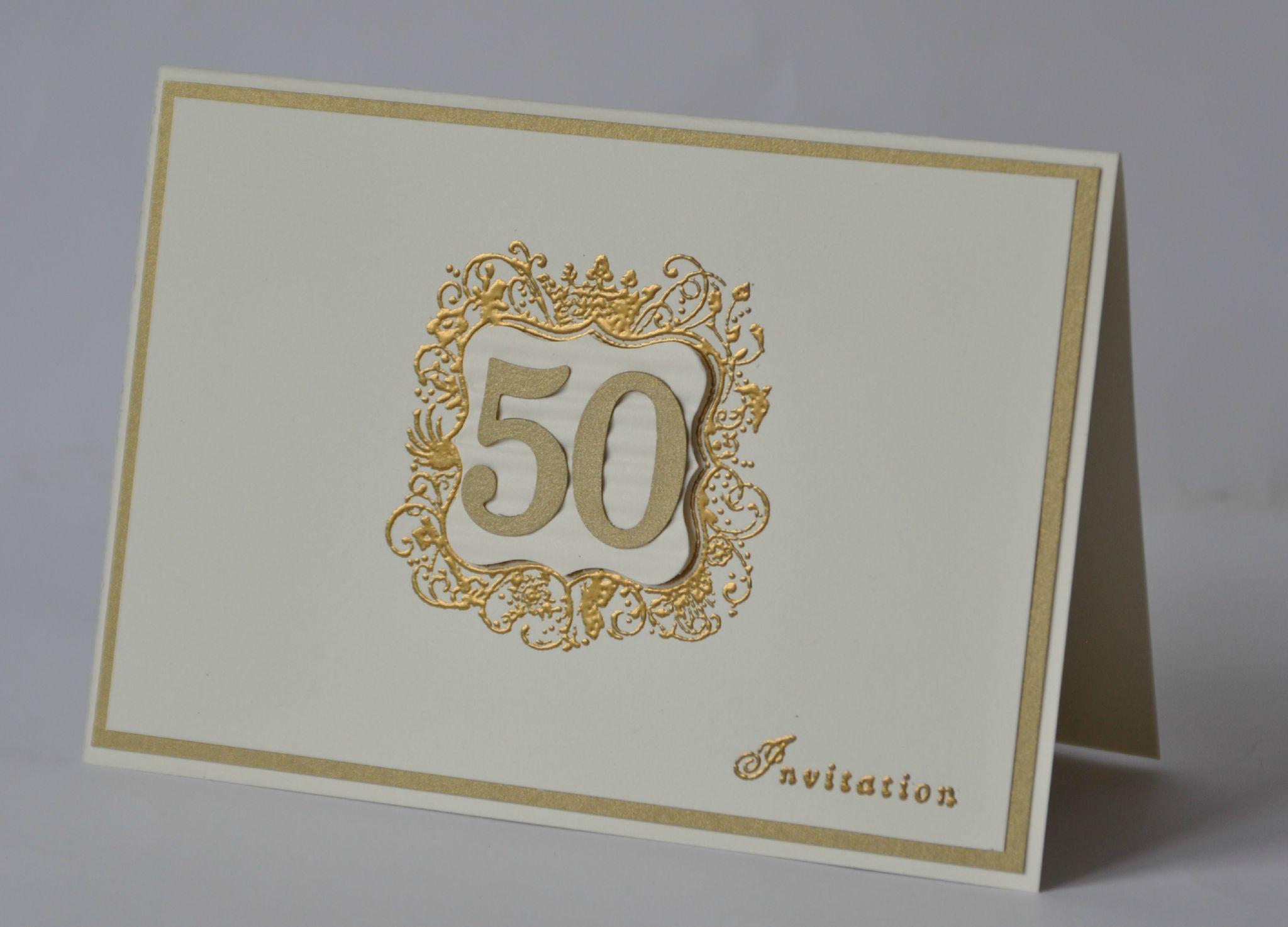 cartes d invitation pour les noces d or