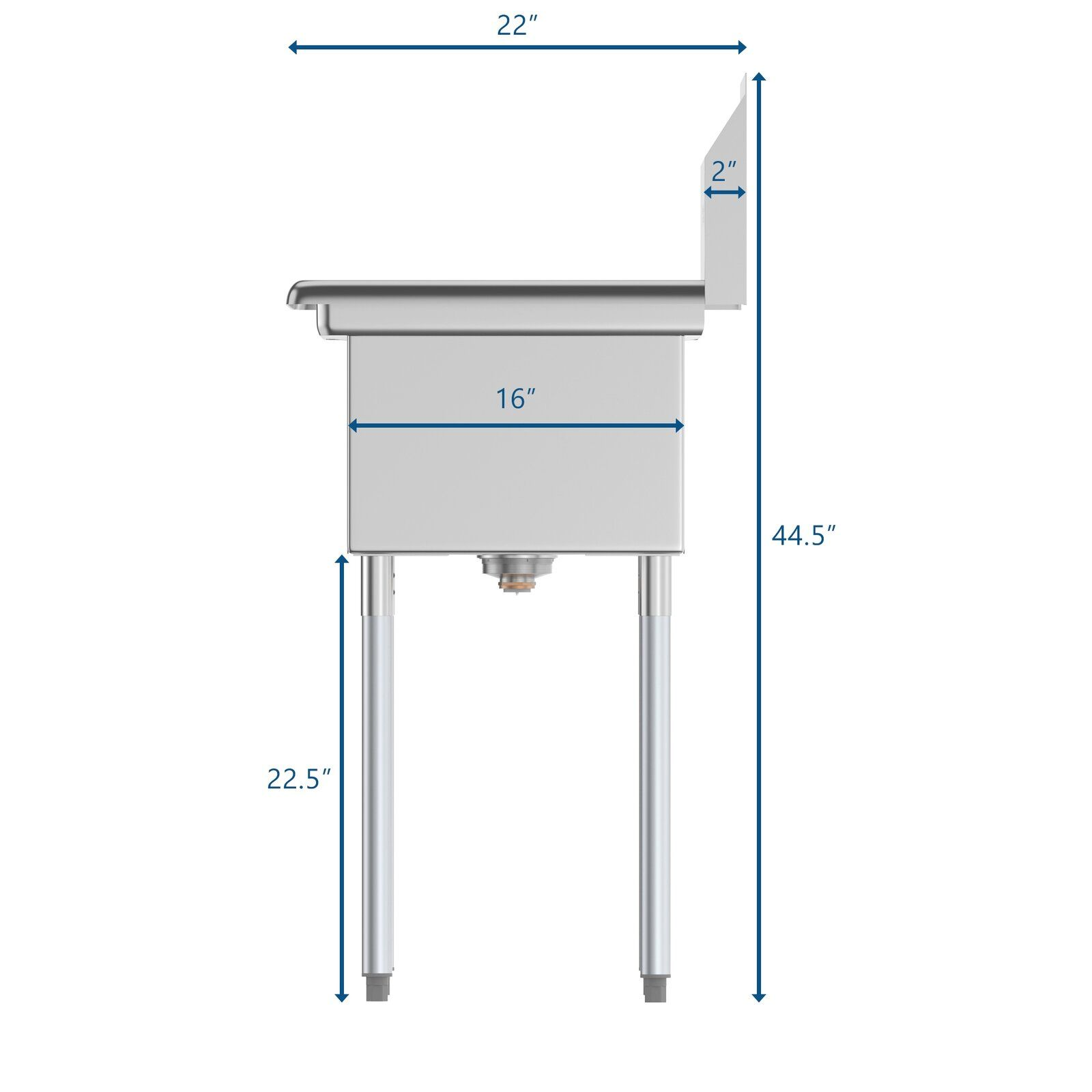 31 X 22 Freestanding Service Sink In 2020 Commercial Kitchen Sinks Sink Commercial Kitchen