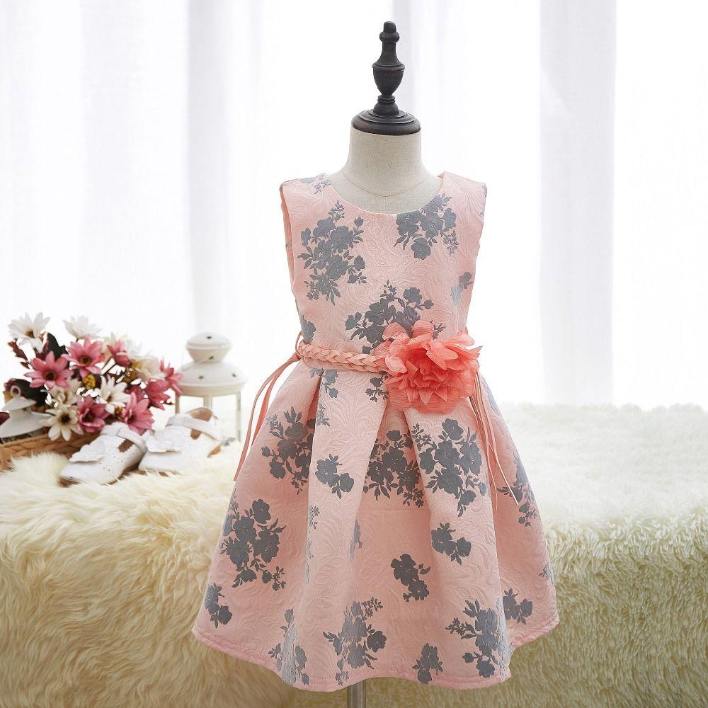 Smocked children clothing summer princess wedding party dresses girl