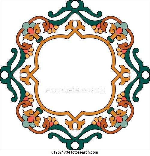 Brown Floral Frame With Copy Space Clipart U19571734 Islamic Art Pattern Pattern Art Arabesque Design