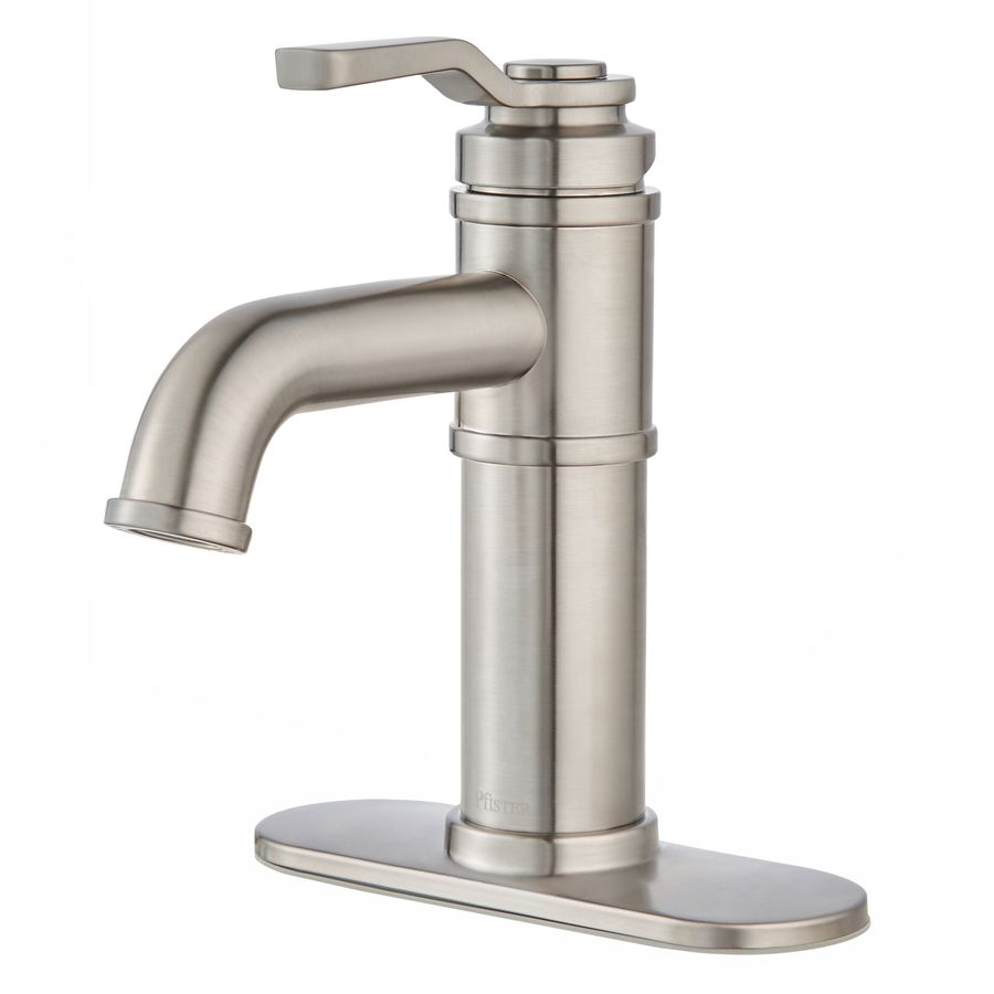 Pfister Breckenridge Brushed Nickel 1Handle Single Hole Entrancing Brushed Nickel Bathroom Faucets Decorating Design
