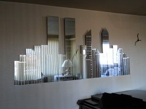 I Adore This Nyc Skyline Mirror Wall Mirrors With