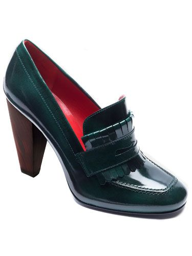 95c6715546c362 Tommy Hilfiger Penny Loafer  shoes A thick heel and high top make this pump  more all-purpose than spindly stilettos.  179.99  tommy.com