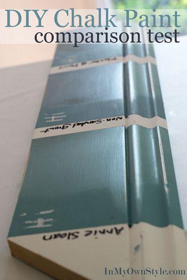 Chalk paint comparison test diy chalk paint recipe for Chalk paint comparable to annie sloan