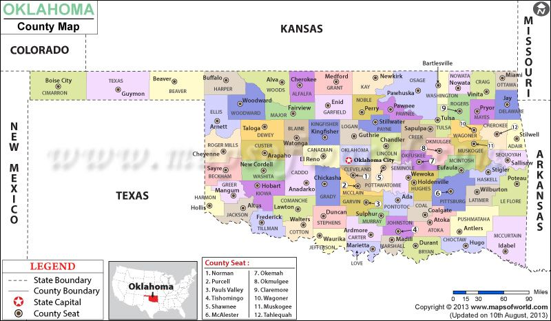 Look At The Detailed Map Of Oklahoma County Showing The Major