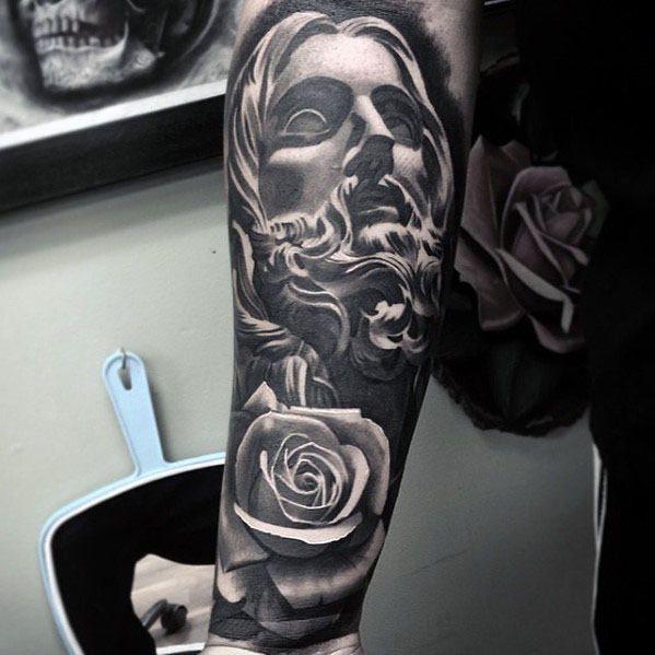 50 Jesus Sleeve Tattoo Designs For Men - Religious Ink Ideas ...