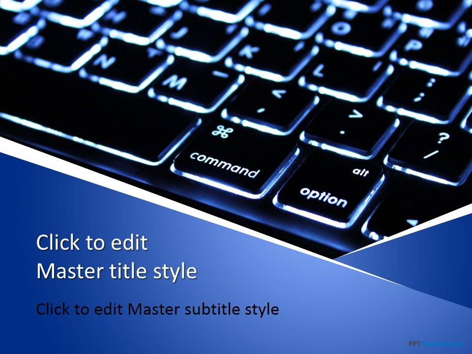 Free Computer Keyboard PPT Template Free PowerPoint Templates - it powerpoint template