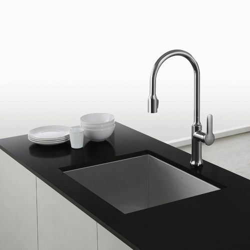 Found it at Wayfair - Nola™ Single Lever Concealed Pull Down Kitchen Faucet