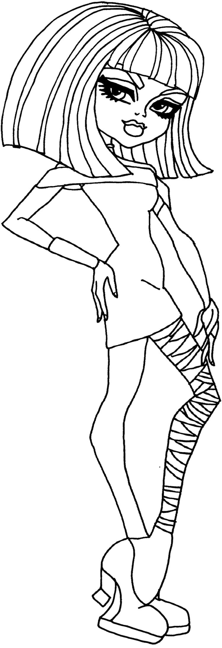 Monster High Cleo de Nile Coloring Page Monster High Coloring Page