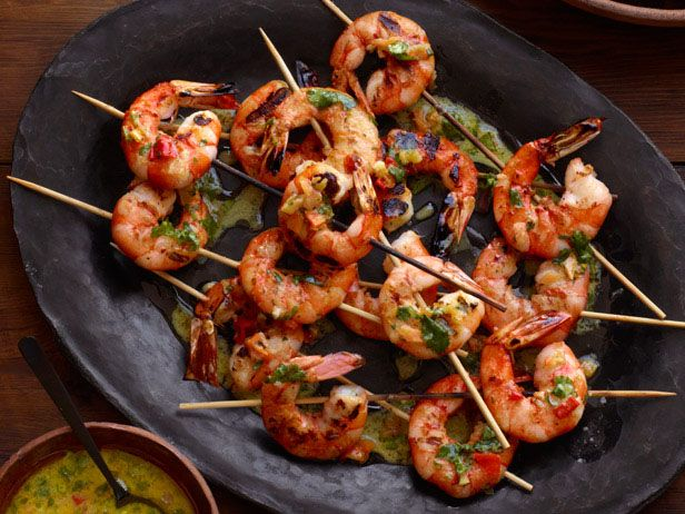 Grilled Shrimp With Orange-Habanero Mojo #grilledshrimp