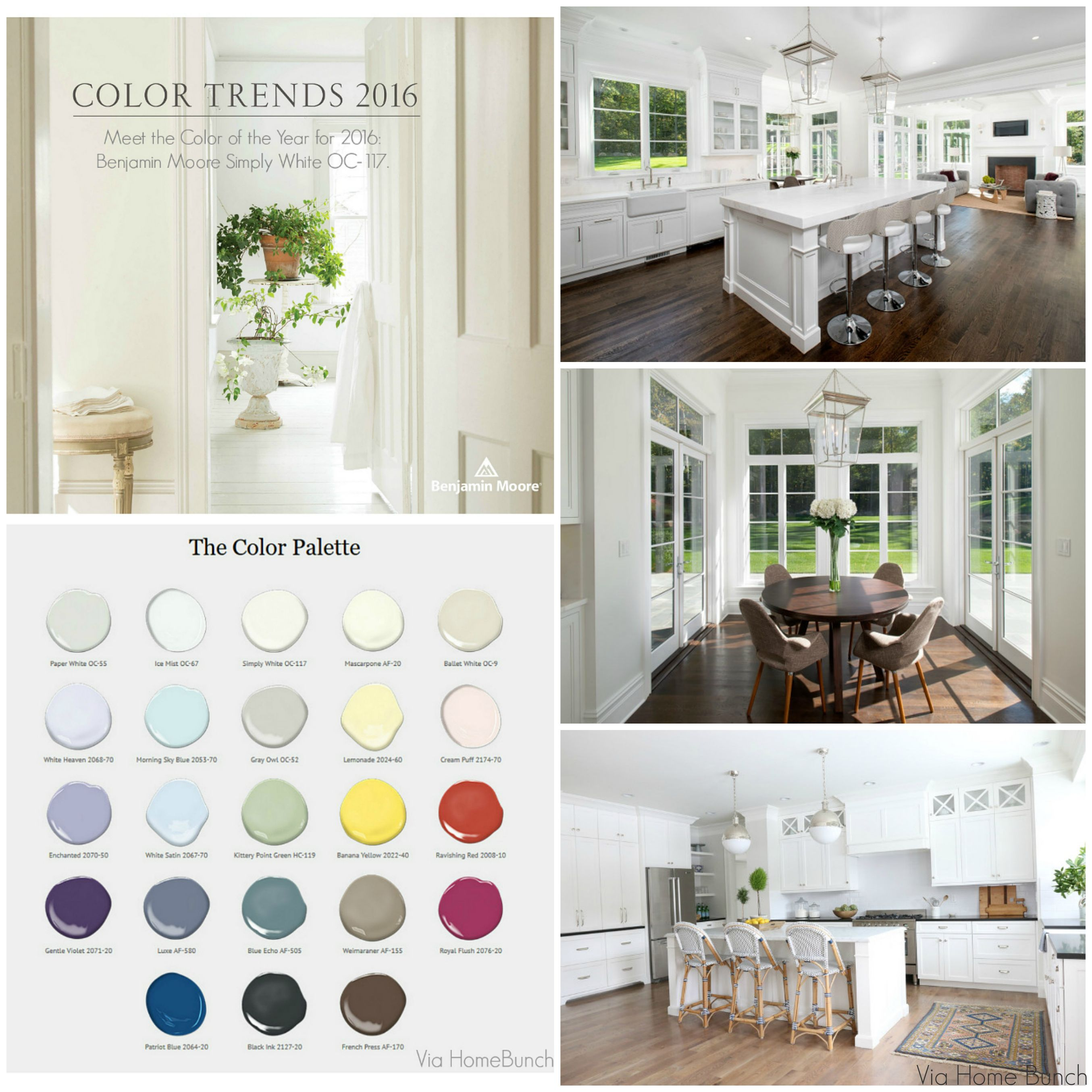 2016 Kitchen Color Trends: Benjamin Moore Color Of The Year 2016: Simply White, Color