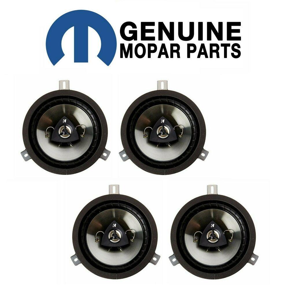 """Mopar Speaker Upgrade Set of 4 Kit 6.5/"""" Kicker for Dodge Jeep Chrysler New"""
