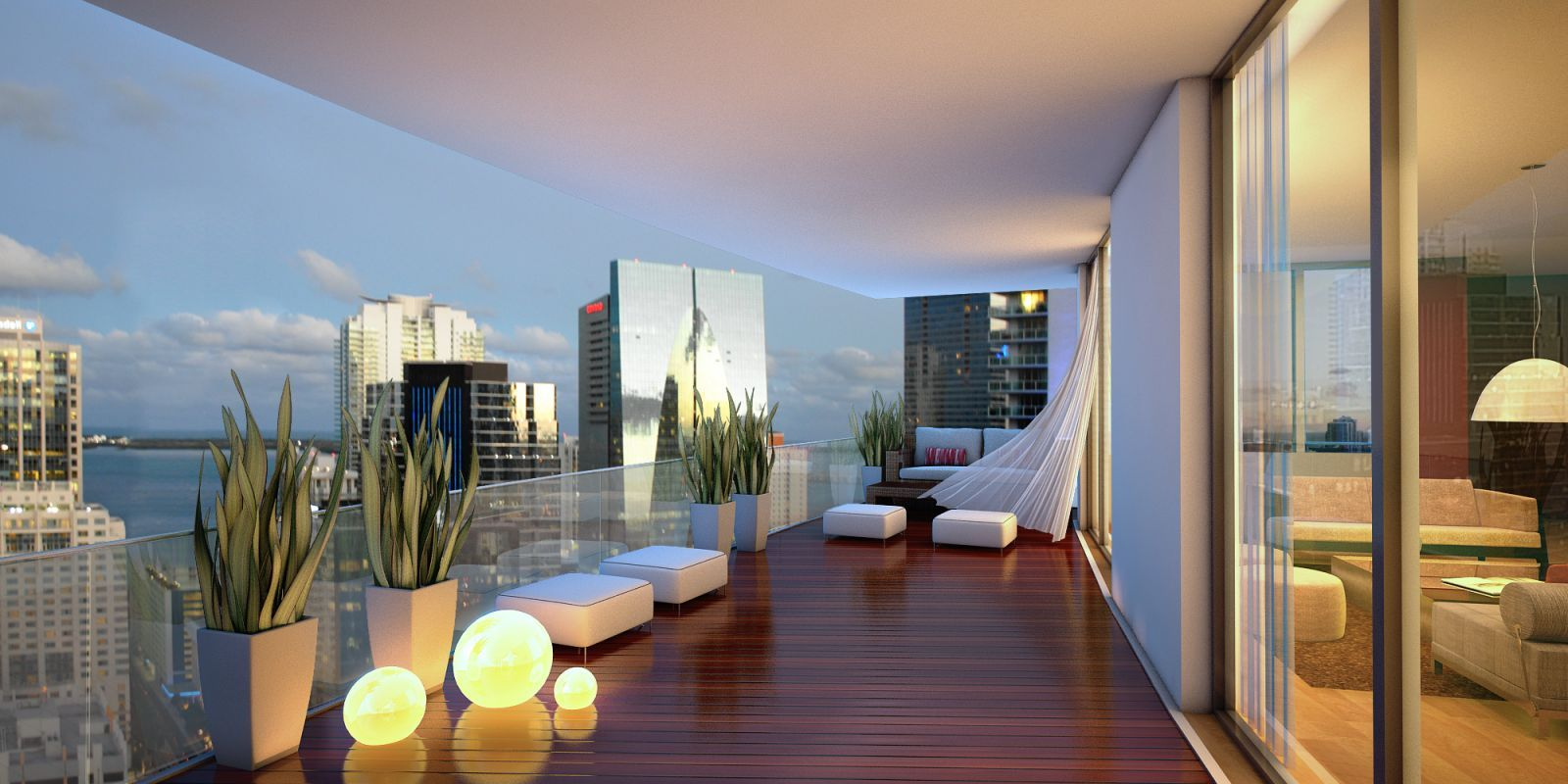 Features of a contemporary luxury home luxury apartments for Balcony terrace
